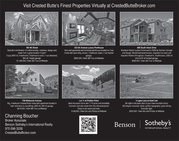 Crested Butte News 1/2 Page ad