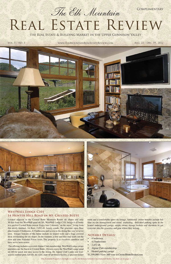 Cover Ad on The Elk Mtn Real Estate Review