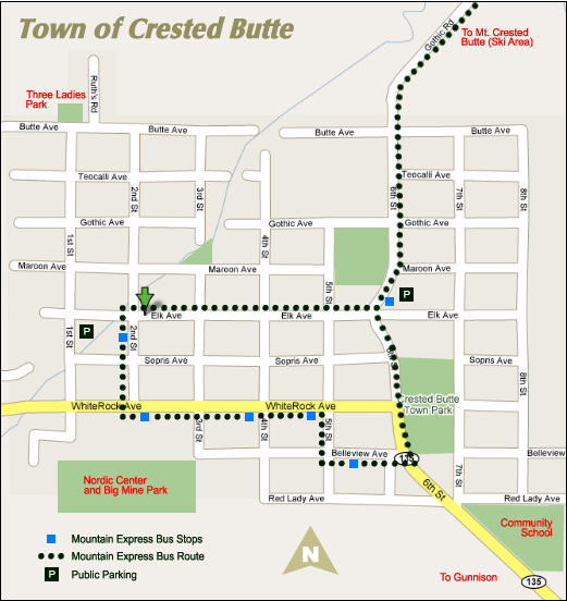Crested Butte and Gunnison Map