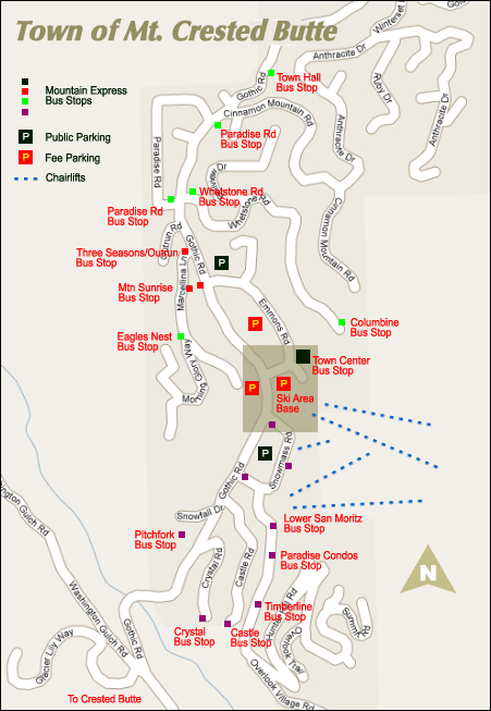 Mt Crested Butte Map